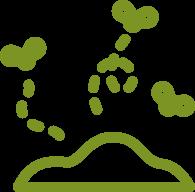 trociny, drobne i cienkie gałązki (nie grubsze niż kredka), skoszoną trawę